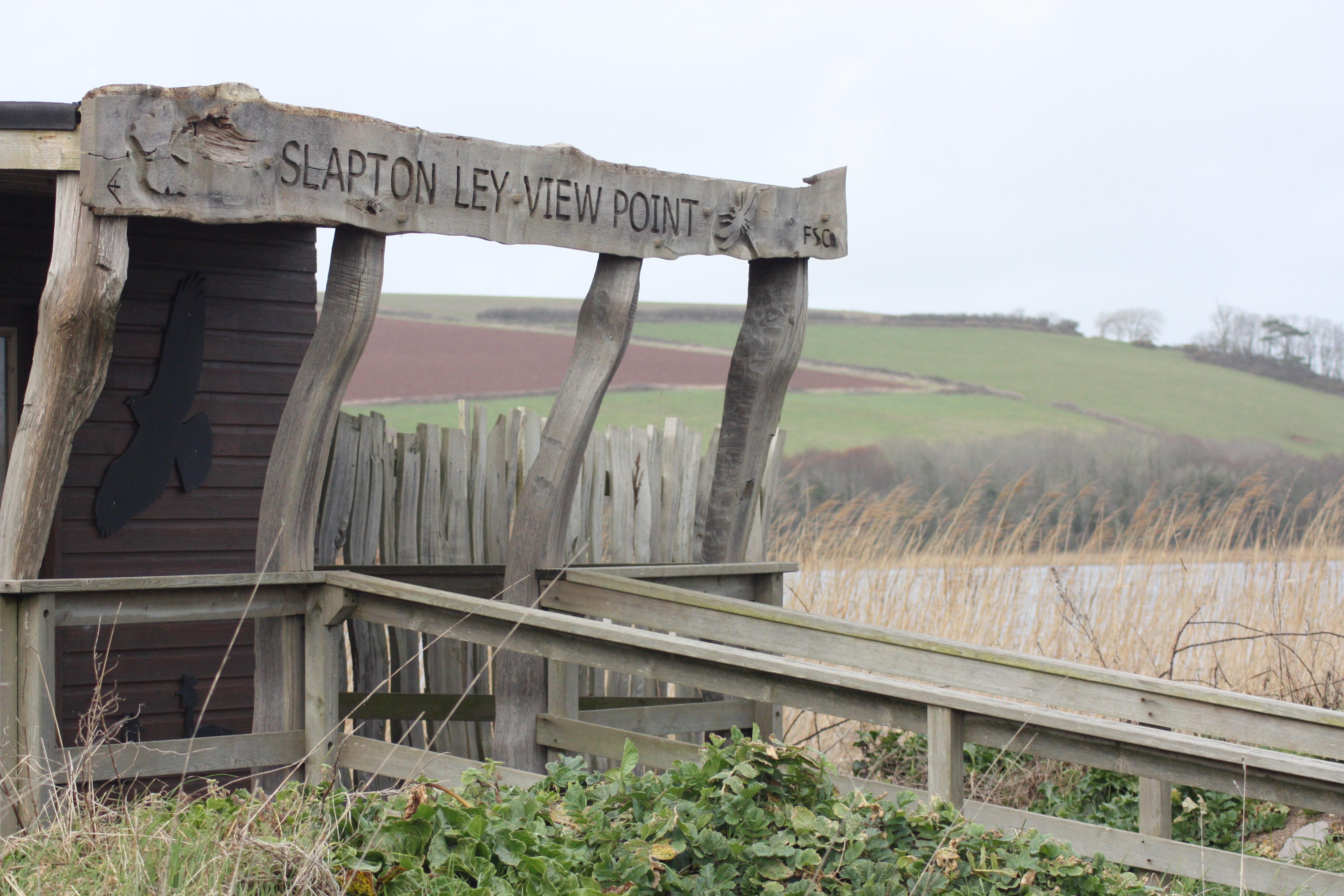 Slapton Ley birdwatching post