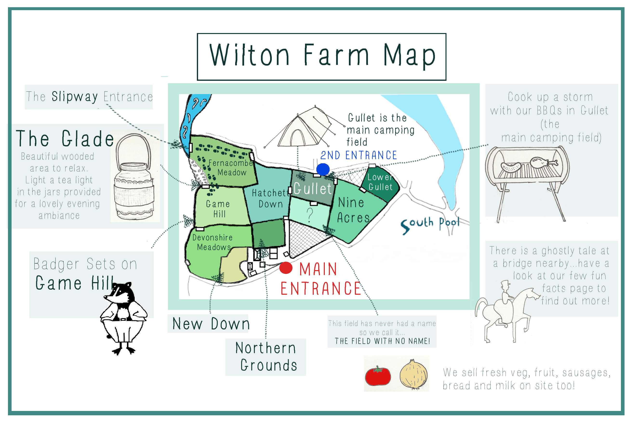 Wilton Farm Campsite Map